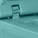 Formgegossen Scharnier Behälter/Deckel , 115° Öffnung