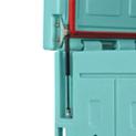 Apertura asistida de la tapa con amortiguadores de gas hasta 80°