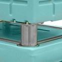 Tapa con plataformas metálicas de apilamiento para BAC con pies.