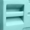 Tirador y soporte para placa moldeados.