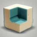 Caja y tapa en polietileno de contacto alimentario rotomoldeado monobloque